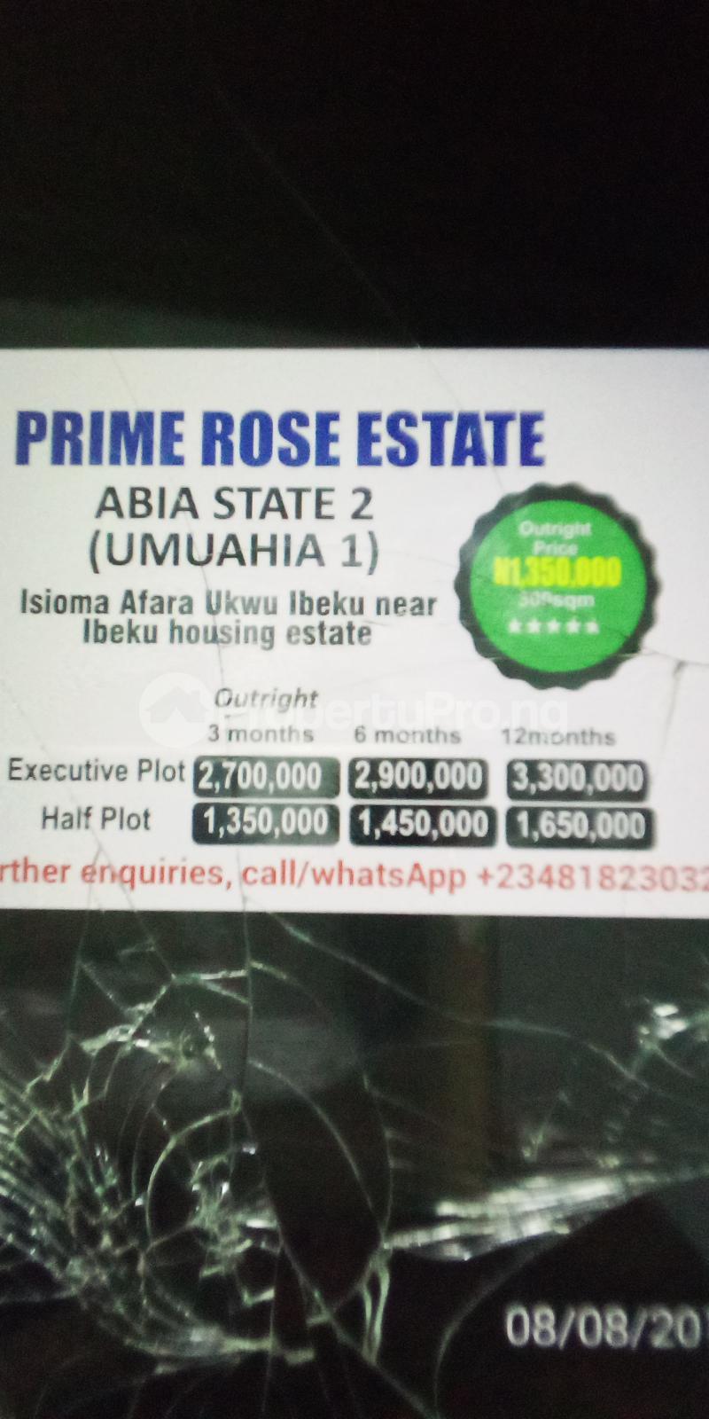 Residential Land Land for sale Isioma Afara Ukwu Ibeku Near Ibeku Housing Estate  Umuahia North Abia - 0