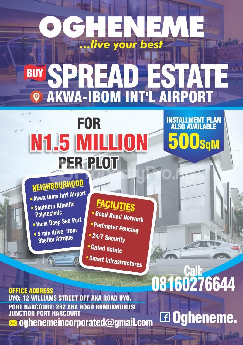 Mixed   Use Land Land for sale Beside Akwa Ibom International Airport. Uyo Akwa Ibom - 0
