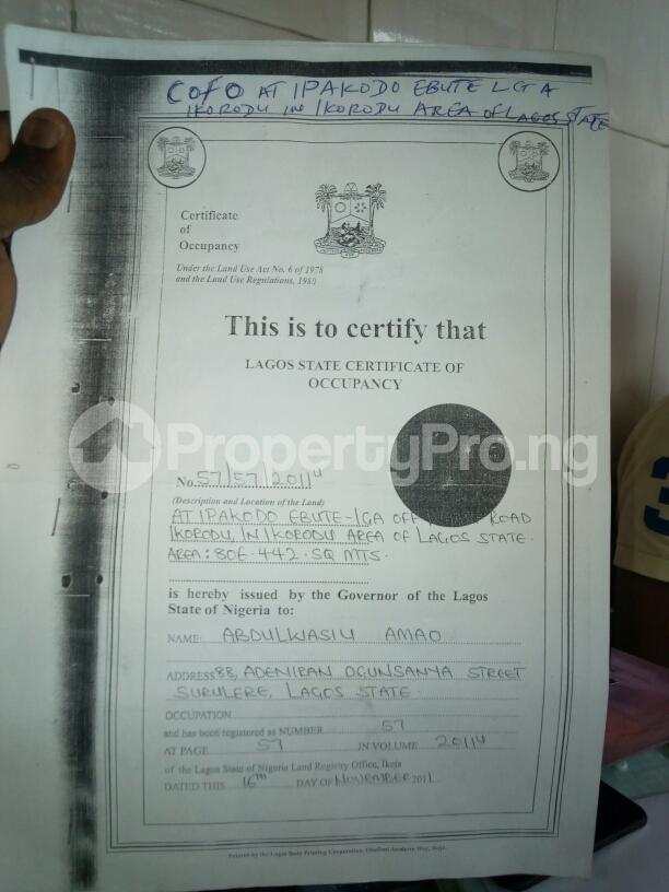 Land for sale Ipakodo Ebute Ikorodu Lagos - 1