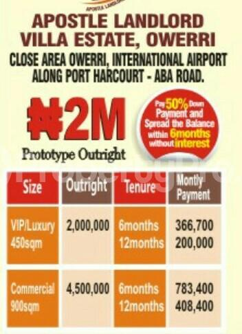 Residential Land Land for sale Along PortHarcourt Aba Road Owerri close to the Airport  Owerri Imo - 0