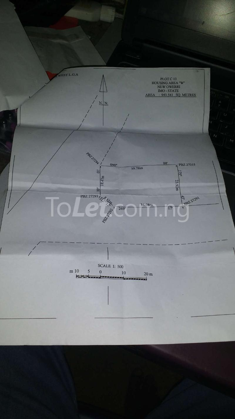 "Land for sale Area ""W"" Owerri Imo - 2"