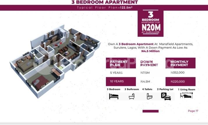 3 bedroom Mini flat Flat / Apartment for sale Western Avenue Surulere Lagos - 0