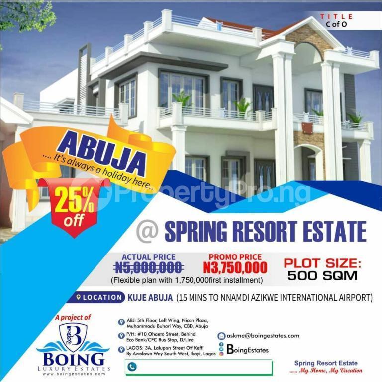 Residential Land Land for sale Spring Resort Kuje Abuja - 0