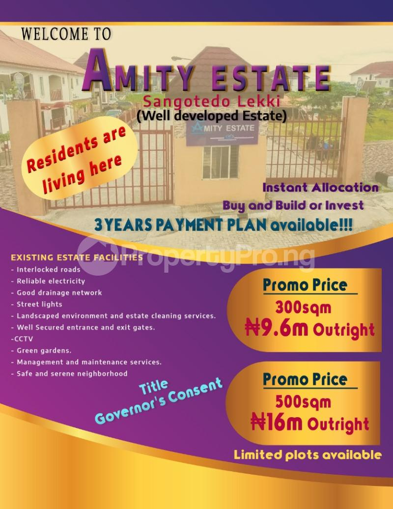 Residential Land Land for sale Amnity Estate Sangotedo Lagos - 4