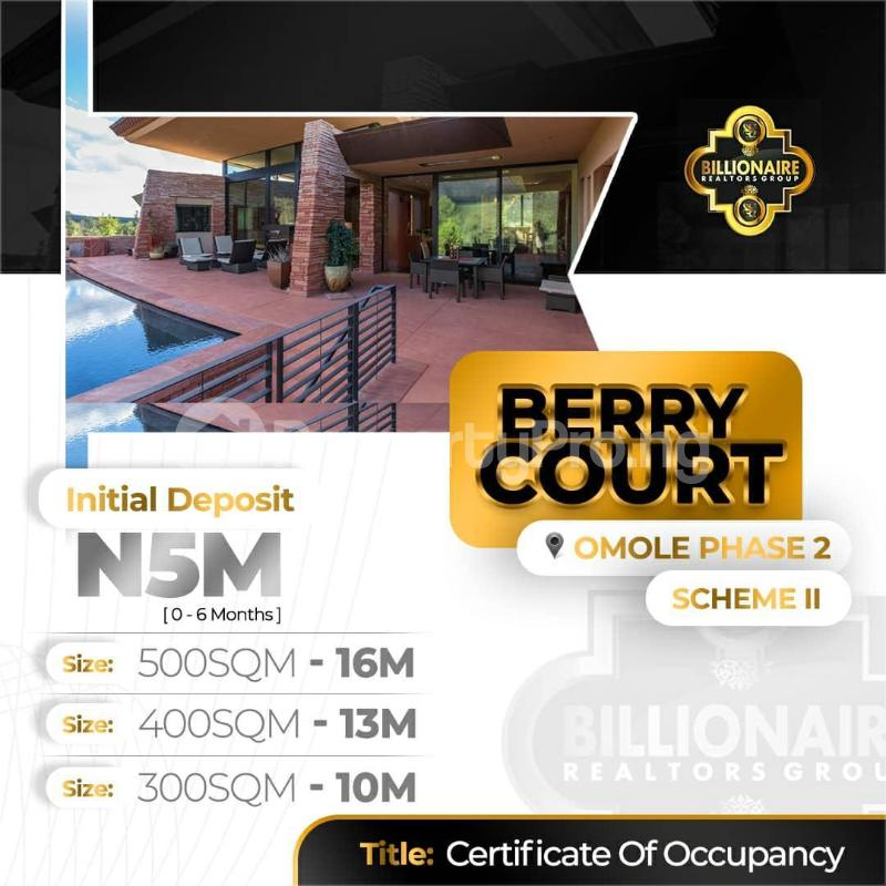 Residential Land Land for sale Berry Court Omole phase 2 Ojodu Lagos - 2