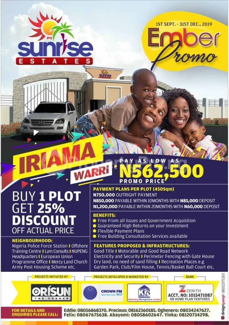 Residential Land Land for sale Irrama, warri  Warri Delta - 0