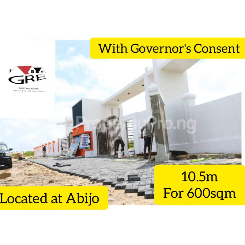 Serviced Residential Land Land for sale 1 minute drive from Lekki Epe Expressway Abijo Ajah Lagos - 0