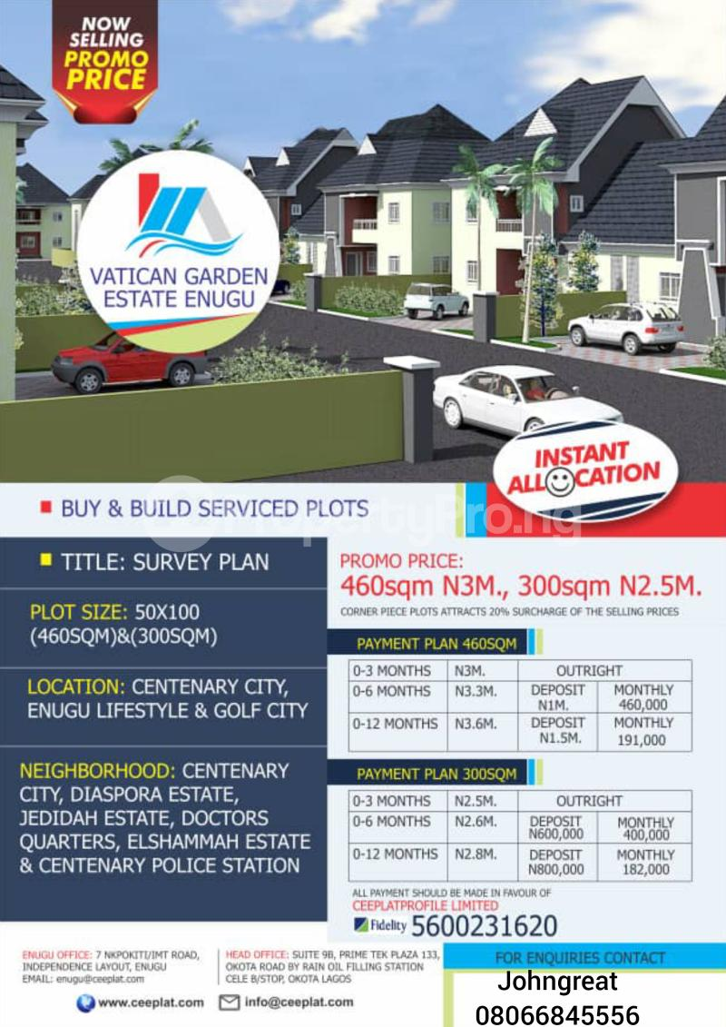 Serviced Residential Land Land for sale Enugu Centenary City, New Haven Independent Layout Phase 2 Enugu Enugu - 1