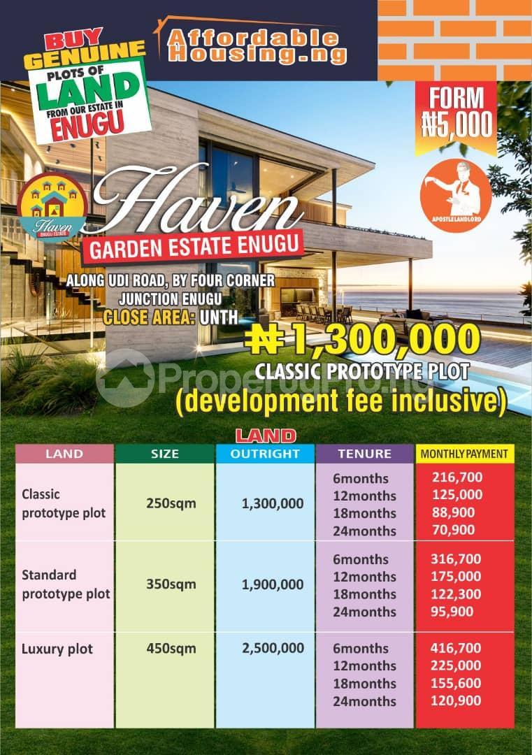 Serviced Residential Land Land for sale Udi road, by four corner junction  Enugu Enugu - 0