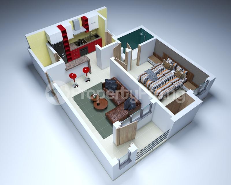 1 bedroom mini flat  Mini flat Flat / Apartment for sale Sangotedo Ajah Lagos - 1