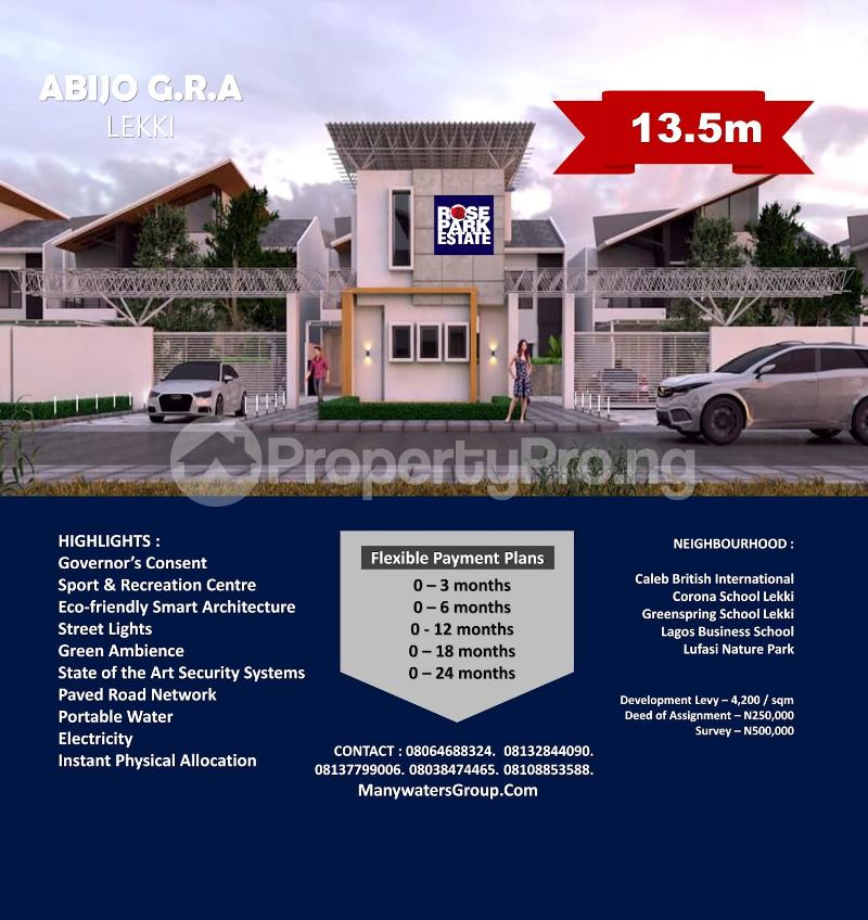 Land for sale Abijo GRA Abijo Ajah Lagos - 0