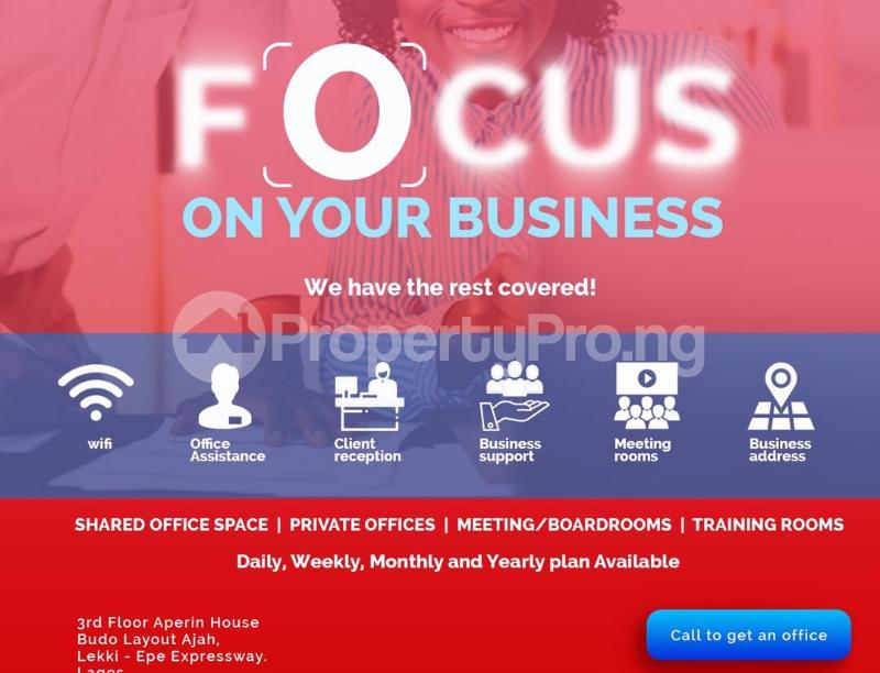 Desk Co working space for shortlet Aperin House, Lekki-Epe Expressway Thomas estate Ajah Lagos - 5