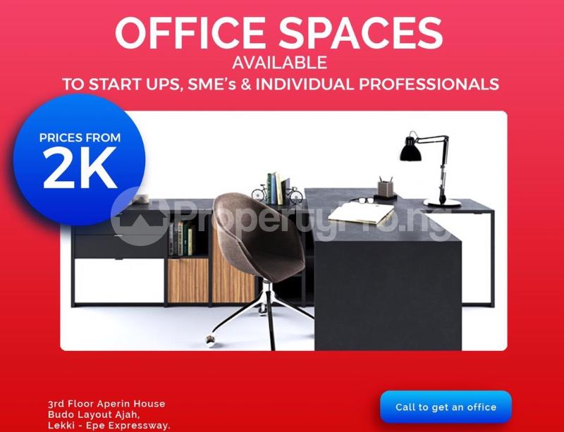 Desk Co working space for shortlet Aperin House, Lekki-Epe Expressway Thomas estate Ajah Lagos - 6