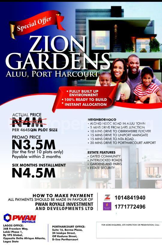 Mixed   Use Land Land for sale Aluu Atali Port Harcourt Rivers - 0