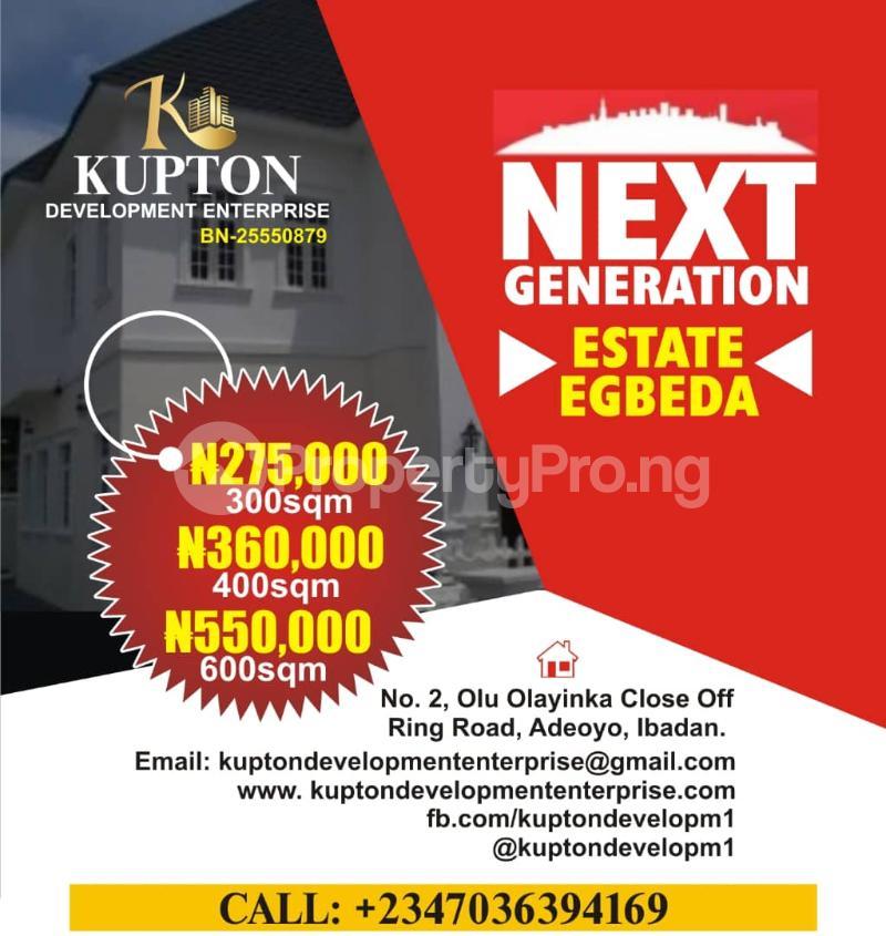 Land for sale Badeku egbeda , Iwo road Iwo Rd Ibadan Oyo - 1