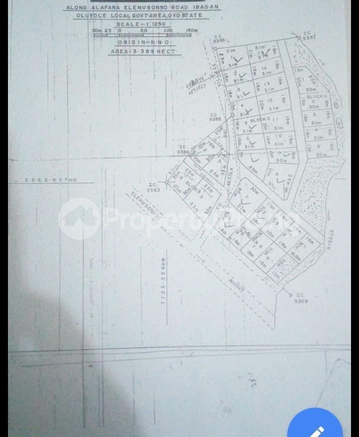 Residential Land Land for sale Alafara, After Nihort,  Close to Ologuneru  Eleyele Ibadan Oyo - 1