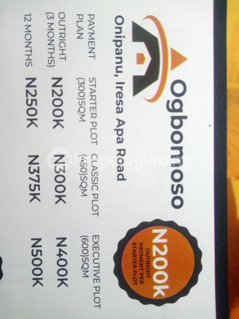 Mixed   Use Land Land for sale Onipanu, Iresa Apa Road Ogbomosho Oyo - 0