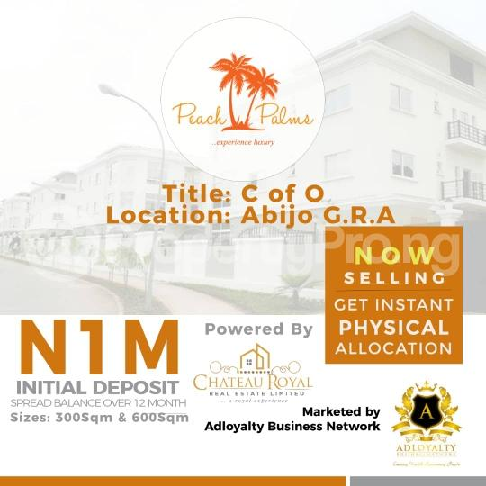 Land for sale Peach Palms Estate Abijo Ajah Lagos - 1