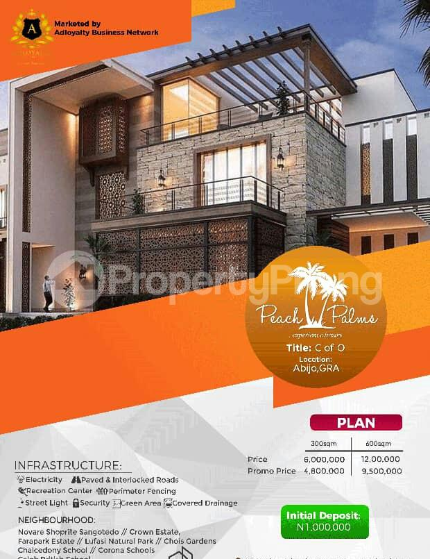Land for sale Peach Palms Estate Abijo Ajah Lagos - 0