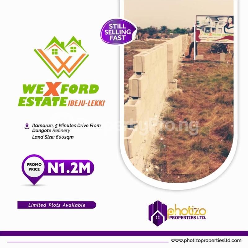 Residential Land Land for sale Itamarun,5 minute drive from dangote refinery  Eleko Ibeju-Lekki Lagos - 0