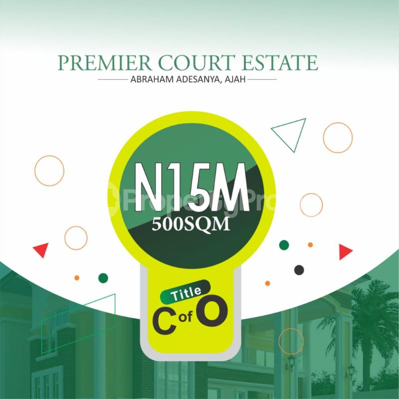 Serviced Residential Land Land for sale By Abraham Adesanya, along Ogombo Road,  Ajah,Lagos Abraham adesanya estate Ajah Lagos - 1