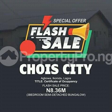 3 bedroom Semi Detached Bungalow House for sale Agbowa, Ikorodu Lagos Ikorodu Lagos - 1