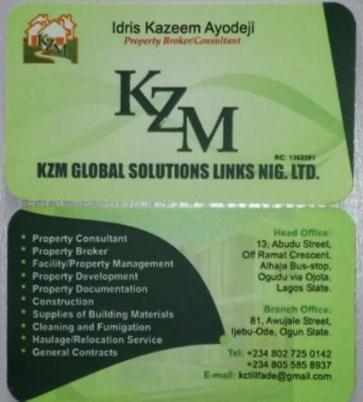 KZM GLOBAL SOLUTIONS LINKS NIG LTD