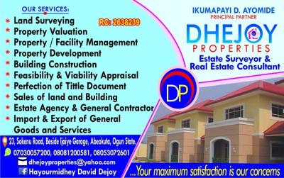 DHEJOY PROPERTIES