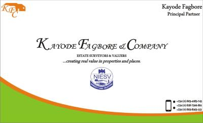 KAYODE FAGBORE & COMPANY (Estate Surveyors & Valuers)