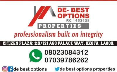 DE-BEST OPTION'S PROPERTIES LTD, AGO PALACE WAY OKOTA/AMUWODOFIN LAGOS  RC;1453138