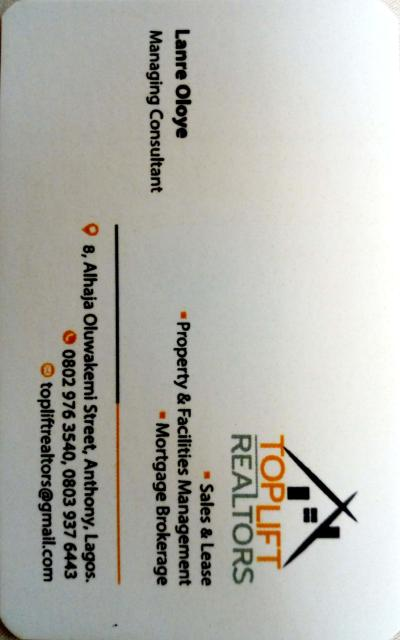 Toplift Realtors Limited