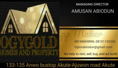 OGY GOLD HOMES AND PROPERTIES