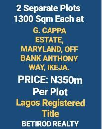 Serviced Residential Land Land for sale G. CAPPA ESTATE. Maryland Lagos