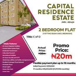 2 bedroom Blocks of Flats House for sale capital residential estate Jabi Jabi Abuja