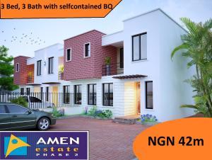 3 bedroom Terraced Duplex House for sale Amen Estate Development, Eleko beach road, off lekki epe expressway, ibeju lekki, lagos, Nigeria Eleko Ibeju-Lekki Lagos