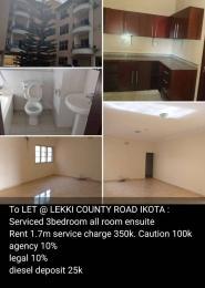 3 bedroom Flat / Apartment for rent Lekki Country  Ikota Lekki Lagos