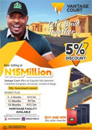 Detached Bungalow House for sale Bogije, Along Lekki/Epe Expressway Sangotedo Lagos