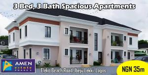 3 bedroom Flat / Apartment for sale Amen Estate Development, Eleko Beach Road, Off-Lekki Epe Expressway, Ibeju Lekki, Lagos, Nigeria  Eleko Ibeju-Lekki Lagos
