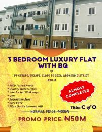 3 bedroom Blocks of Flats House for sale PP ESTATE, Close to COZA,Guzape, Asokoro District Abuja Guzape Abuja