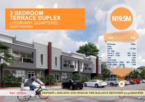3 bedroom Terraced Duplex House for sale Ibafo, Lagos - Ibadan Expressway  Arepo Ogun