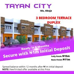 3 bedroom Terraced Duplex House for sale Tayan City, Idu Idu Abuja