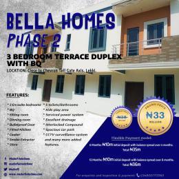 3 bedroom Terraced Duplex House for sale By Chevron Toll Gate, Bella Homes Igbo-efon Lekki Lagos
