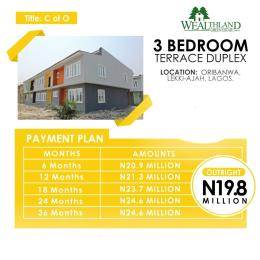 3 bedroom Terraced Duplex House for sale Located At Oribanwa Awoyaya Ajah Lekki Peninsula  Lagos Awoyaya Ajah Lagos