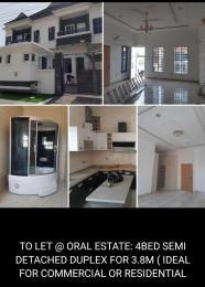 4 bedroom Semi Detached Duplex House for rent - Oral Estate Lekki Lagos