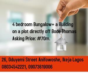 Semi Detached Bungalow House for sale Bode Thomas Surulere Lagos