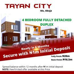 4 bedroom Detached Duplex House for sale Tayan City, Idu Idu Abuja