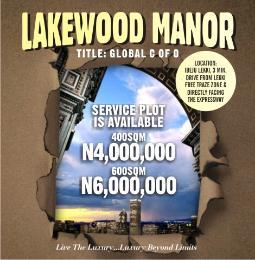 Land for sale Lakewood Manor Free Trade Zone Ibeju-Lekki Lagos - 0