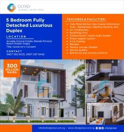 5 bedroom Detached Duplex House for sale Arcadia Groove Estate, Beside Pinnock Beach Estate, Osapa. Osapa london Lekki Lagos