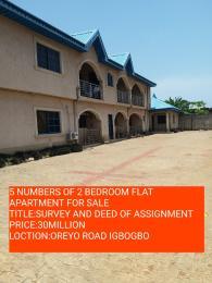 2 bedroom Self Contain Flat / Apartment for sale WASIU BOGE IGBOGBO IKORODU  Igbogbo Ikorodu Lagos