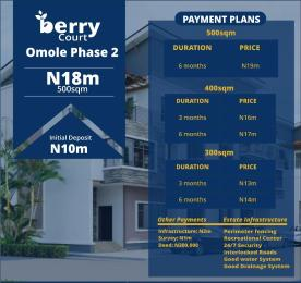 Serviced Residential Land Land for sale Berry court omole Omole phase 2 Ojodu Lagos